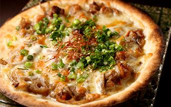 レンコンとごぼうのキンピラピザ